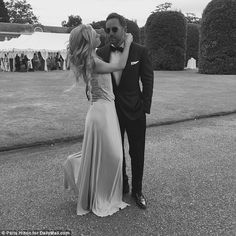 He made the cut: The fragrance mogul also shared this never-seen-before image with Thomas at her sister Nicky Hilton's wedding to James Rothschild in July at Kensington Palace in London