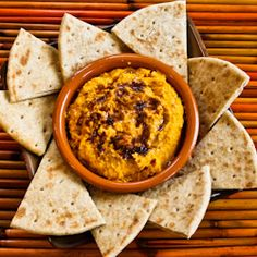 sweet potato hummus with olive oil and sumac recipe for sweet potato ...