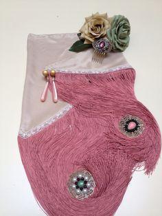 Seda crudo y fleco rosa con encaje /2015