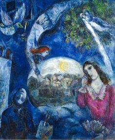 Marc Chagall, Autour d'elle / Aroud her, 1945