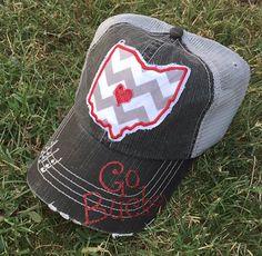 Ohio State University Buckeyes Baseball Bling Women's Trucker Hat by chasingelly