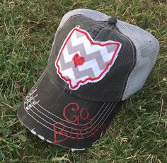 Ohio State University Buckeyes Baseball Bling Women's Trucker Hat by chasingelly