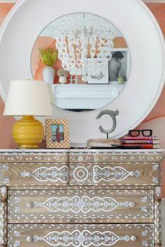 Painted Bone Inlay Dresser
