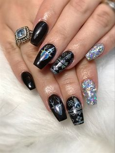 dark winter by jdeviva from nail art gallery winter nail art winter nails dark - Pinterest Christmas Nails