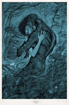 The Shape Of Water Movie Poster - Guillermo del Toro - Sally Hawkins, Octavia Spencer - Fantasy Film The Shape Of Water, Water Movie, Water Poster, James Jeans, Water Art, Closed Eyes, Movie Wallpapers, 1080p Wallpaper, Blade Runner