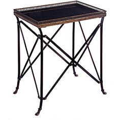 Argento Rectangular Black Accent Table