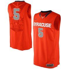 Nike Syracuse Orange #5 Authentic Performance Basketball Jersey - Orange
