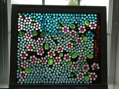 Cherry Blossom Stained Glass Mosaic Window by Glasspaintingsparky, $125.00