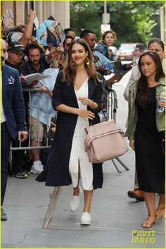 Jessica Alba Rocks Four Outfits in One Day While Promoting 'Planet of the Apps'