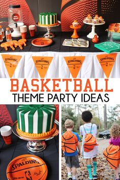 Throw The Perfect Basketball Birthday Or March Madness Party Intended For March Madness Party Decorations - Best Home & Party Decoration Ideas Basketball Party Favors, Baseball Party Decorations, Basketball Birthday Parties, 10th Birthday Parties, Birthday Party Favors, Basketball Cakes, 8th Birthday, Sports Themed Birthday Party, Sports Party