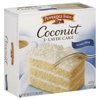 Pepperidge Farm Classic Coconut Layer Cake:   2.5 grams trans fat per serving (1/8 cake)
