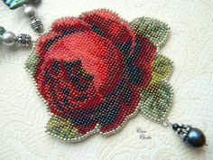 Gallery.ru / Фото #4 - Красота!!! - igolozka Seed Bead Earrings, Seed Beads, Crochet Earrings, Bead Embroidery Tutorial, Beaded Embroidery, Beaded Bags, Beaded Jewelry, French Beaded Flowers, Beaded Brooch