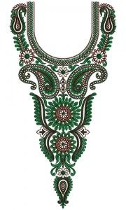 9548 Neck Embroidery Design