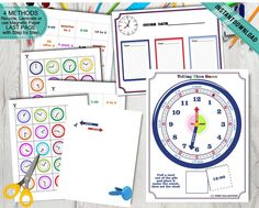 Pre-K Kids telling the time Game Print Cut and Play Circle Time Game, Preschool Boys Toddlers Game Early Math Homeschool Games Printable DIY Preschool Special Education, Preschool Themes, Preschool Printables, Circle Time Games, Playing With Numbers, Middle Childhood, Early Math, Number Games, Games For Toddlers