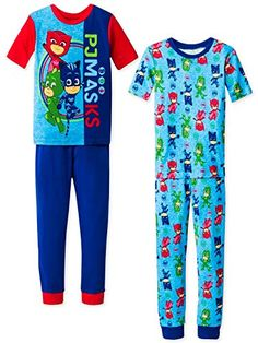 These super cute pajamas are sure to bring a smile to any boy's face. This sleepwear set features his favorite PJ Masks heroes, Catboy, Gekko, and Owlette! It's perfect to play or sleep in! Long Sleeve And Shorts, Maxi Dress With Sleeves, Boys Summer Outfits, Baby Boy Outfits, Night Wear Dress, Munster Kids, Baby Boy Camo, Cute Pajamas, Pj Mask