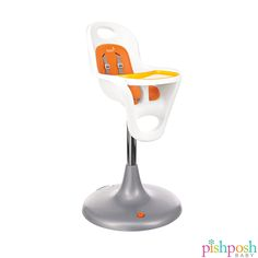 One of our top selling high chairs, the Boon Inc Flair Pedestal high chair is easy to clean, smooth wheeling, and has an adjustable height. Available in 2 colors, priced at $229.  http://www.pishposhbaby.com/boon.html