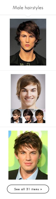 """Male hairstyles"" by caitlin-rosling ❤ liked on Polyvore featuring men's fashion, men's clothing, short mens clothing, accessories, joe jonas, men's apparel and mens clothing"
