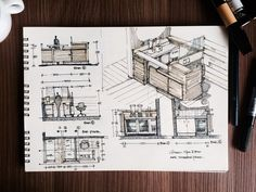 Green Spa and Bar Sketches Interior Architecture Drawing, Interior Design Renderings, Architecture Concept Drawings, Architecture Sketchbook, Interior Sketch, Architecture Portfolio, Architecture Design, Interior Doors, Spa Bar