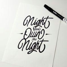 Night owl own the Night......