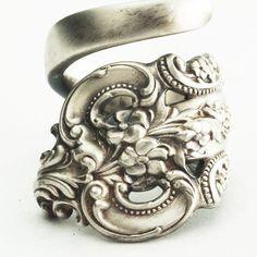 Spoon Ring Unique Victorian Organic Scroll Sterling by Spoonier, $49.00.  #SpoonierSpoonRings, @SIMPLEReviews