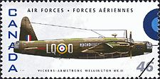 Canadian Postal Archives Database Postal Administration: Canada Title: Vickers-Armstrong Wellington MK.II Denomination: 46¢ Date of Issue: 4 September 1999