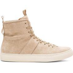 Daniel Patrick High Top Roamer Sneakers in Sand as seen on Kylie Jenner