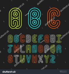 Mono lines style alphabetic fonts capital letter A,B,C,D,E,F,G,H,I,J,K,L,M,N,O,P,Q,R,S,T,U,V,W,X,Y,Z.Vector illustration.