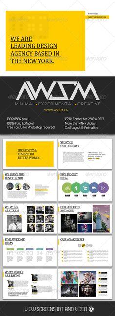 Presentation Templates - Biz Minimal PowerPoint Template, design, presentation,