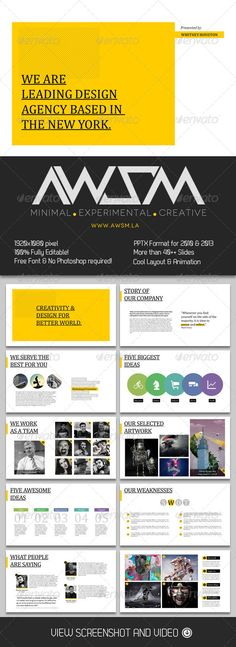 Presentation Templates - Biz Minimal PowerPoint Template, design, presentation,
