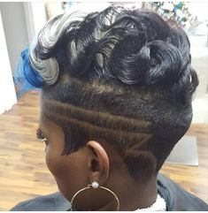50 the Most Stylish Short Haircuts for Women Short Sassy Hair, Short Hair Cuts, Short Hair Styles, Curly Short, Shaved Side Hairstyles, Black Hairstyles, Medium Hairstyles, Shaved Mohawk Hairstyles For Black Women, Curly Mohawk Hairstyles
