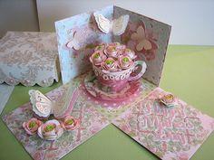 cricut florals embellished   Cricut Mother's Day Exploding Box Card. Elegant Edges, TBBM2, Florals ...