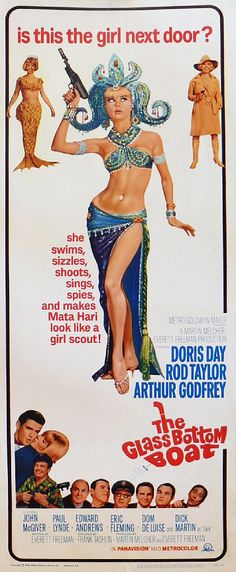 """The Glass Bottom Boat (1966)"" / Director: Frank Tashlin / Writer: Everett Freeman / Stars: Doris Day, Rod Taylor, Arthur Godfrey #poster"