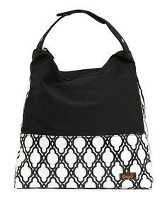 Love this Bayá Black Tribeca Lattice Hobo by Bayá on #zulily! #zulilyfinds