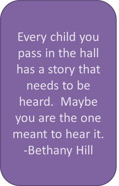 Every child you pass in the hall has a story that needs to be heard. Maybe you are the one meant to hear it. | www.delphian.org