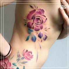 Best tattoos and artists from around the world. #color #colour #flowers #floral #tattoo #tatuaż #flower #kwiaty #poland #polska #olsztyn #kwiat #watercolor 🌷🌹🌺🌸🌼🌻 Tattoo Portfolio, Amazing Flowers, Flower Tattoos, Poland, Cool Tattoos, Watercolor Tattoo, Artists, Colour, Floral