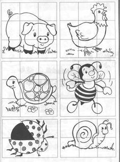 Deixo aqui um conjunto de quebra cabeças para as crianças se entreterem a recortar, pintar Classroom Activities, Preschool Activities, Busy Book, Colouring Pages, Pre School, Special Education, Kids Learning, Worksheets, Crafts For Kids