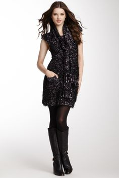 Tie Scarf Sweater Dress @Pascale Lemay De Groof