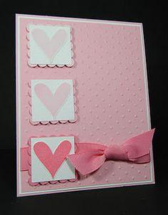 three hearts Cuttlebug card