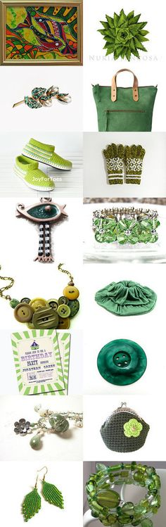 GARDEN GREEN ..... by Sisters on Etsy--Pinned with TreasuryPin.com