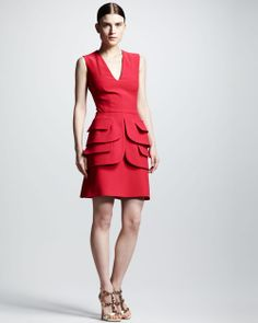 Celebrities who wear, use, or own Alexander McQueen Double Peplum Dress. Also discover the movies, TV shows, and events associated with Alexander McQueen Double Peplum Dress. V Neck Dress, Dress Me Up, Peplum Dress, Alex Mcqueen, Pretty Dresses, Dresses For Work, Alexander Mcqueen Dresses, Fashion Fabric, Women's Fashion