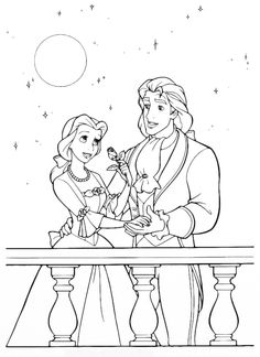 Prince And Princess Belle Coloring Page From Beauty The Beast Category Select 25721 Printable Crafts Of Cartoons Nature Animals Bible Many