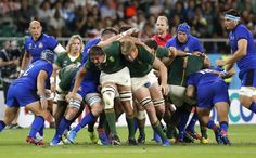 South Africa trounces Italy to stay alive at RWC Eben Etzebeth, Rugby Men, Shizuoka, Rugby World Cup, Staying Alive, Big Men, South Africa, Kicks, Italy