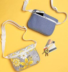 Kwik Sew K4165, Zip-Closure Belly Bags sewing pattern. Sew a chic fanny pack.