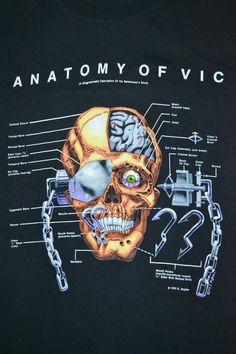 Vintage 1993 MEGADETH Anatomy of Vic Rattlehead Countdown to Extinction Tour Concert Promo metal rar Heavy Metal Art, Heavy Metal Bands, Vic Rattlehead, Countdown To Extinction, El Rock And Roll, Character Sketches, Rock Posters, Thrash Metal, Hard Rock