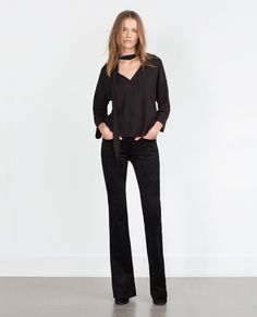 Image 1 of BOW TOP from Zara
