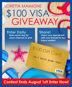Win a $100 Visa Gift Card!