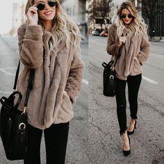 a4fe88117 Barato Shibever camisola de lã mulheres cardigan feminino quente camisola  de algodão veste femme bolsos longo