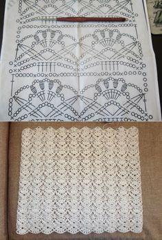 Crotchet Patterns, Crochet Stitches Patterns, Crochet Designs, Stitch Patterns, Crochet Diagram, Crochet Chart, Crochet Motif, Crochet Newborn Blanket, Baby Afghan Crochet