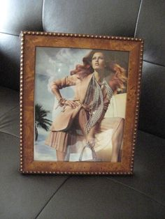 BURLWOOD Photo Frame with Gold Boules Made in by AuntieNellies, $49.95