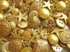 »✿❤Golden❤✿« Color Dorado - Gold!!! Buttons
